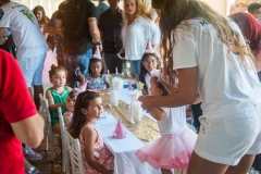 daytime and evening outdoor and indoor family birthday party at home