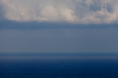 the Mediterranean horizon as seen at different days and times from Adma, Lebanon