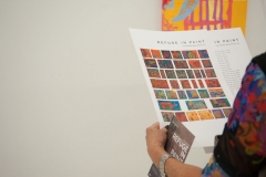 close up of Syrian children's artwork catalog