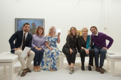 panelists at aptART's Refuge in Paint opening reception at the Gary Nader Art Centre, Miami